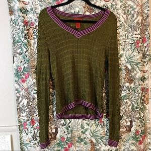 Missoni for Target Olive Green Sweater