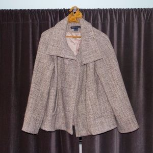 HPx3! 100% Wool French Connection Beige Coat