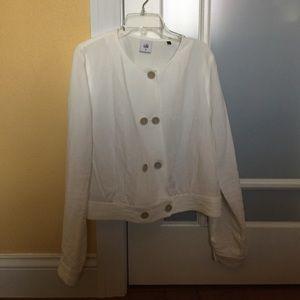 Cabi white long sleeve jacket