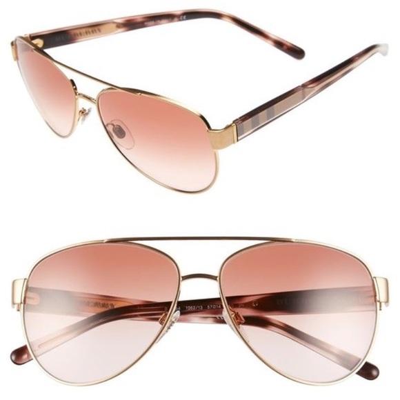 7ea8ced39cc4 Burberry Accessories - Burberry 59mm Aviator sunglasses- Rose gold. EUC