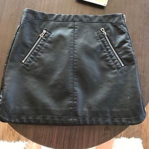 Urban Outfitters Black Leather Skirt