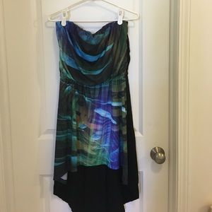 Strapless hi lo dress