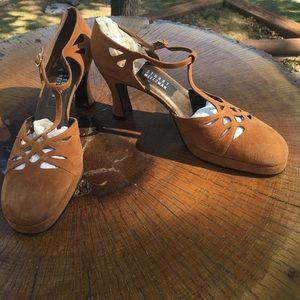 Stuart Weitzman Suede Brown Sandals, Size 10 B