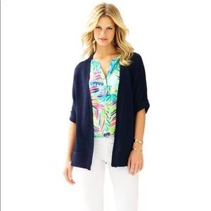 Lilly Pulitzer Navy Harbour Cardigan