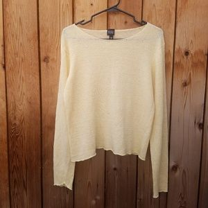 Eileen Fisher Light Yellow Knit Top