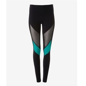 Express Green and Black Workout Leggings