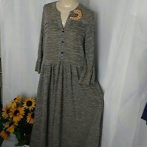 Reborn knit maxi sweater Dress