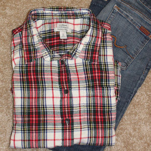 L.L. Bean Flannel Button-down Shirt