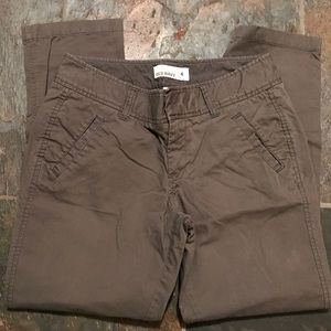 Dark grey cropped pant