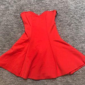 NWT Lovers & Friends strapless Red/orange dress.