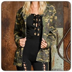 Jackets & Blazers - Trendy & Edgy Camo Military Utility Jacket SML