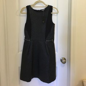 Tinley Road faux leather dress NWT