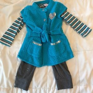 Other - Teal and grey matching set