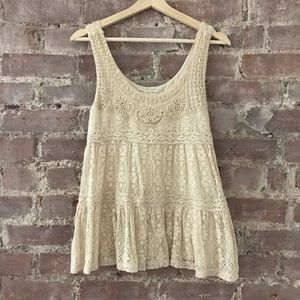 Staring At Stars Lace Tiered Tank