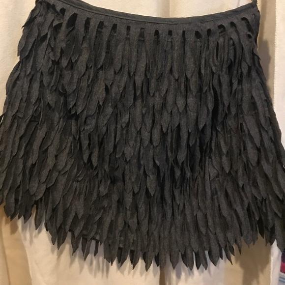 14d915922b AKIRA Dresses & Skirts - AKIRA gray fringe mini skirt