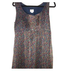 Blue dress with super cute flower print