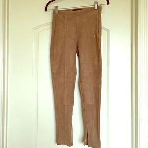 NWOT Zara camel suede pants in size S.