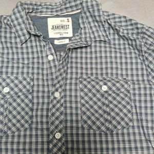 Long sleeve plaid button down - men's