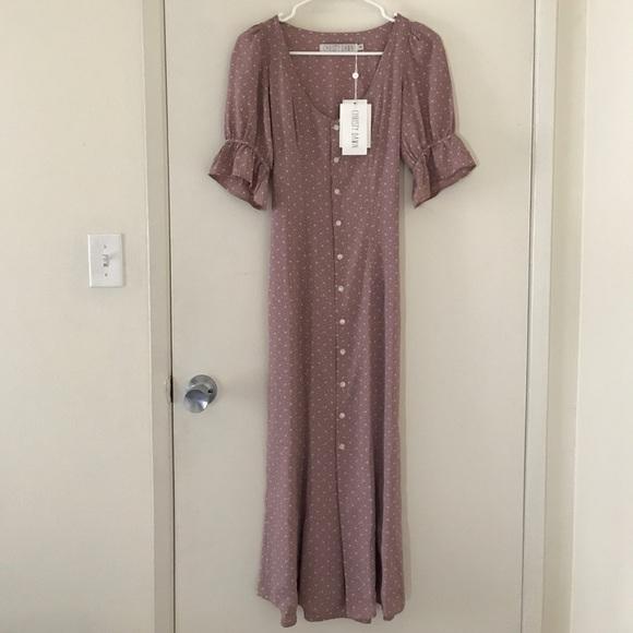 deaf642e271e Christy Dawn Dresses | Nwt Lennon Dress In Mauve Floral Xs | Poshmark