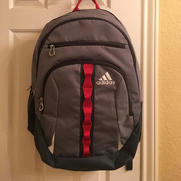 adidas Other - Adidas Load Spring Backpack Grey and Red ba34f666bedfe