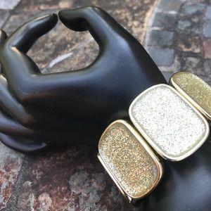 Accessories - Gold glitter stretch bracelet
