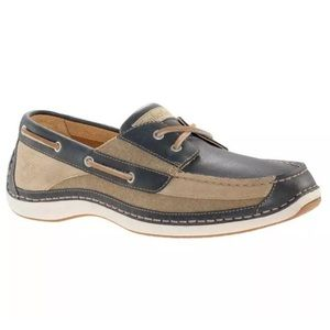 TIMBERLAND MEN ANNAPOLIS BROWN LEATHER CANVAS SHOE