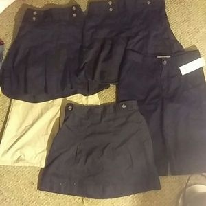 Girls uniform skort and short