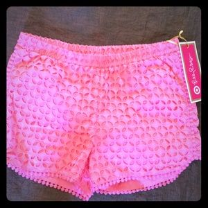 NWT LIlly Pulitzer girls shorts Large (10-12)