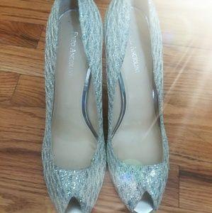 Stunningly sexy silver heels