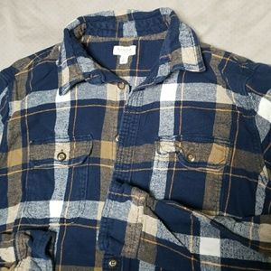 Mens plaid flannel button down