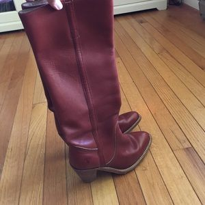 Free leather cognac boots