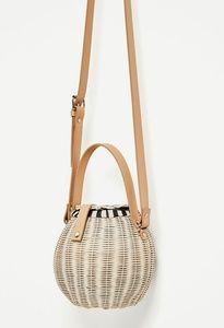 Raffia Straw Bucket Bag