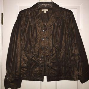 Ladies Brown Glitter Jacket Size P14