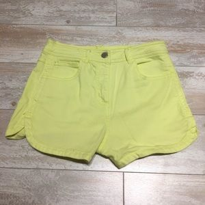 FOREVER 21 HIGH WASTED NEON JEAN SHORTS!!!