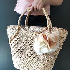 J. Crew straw bag/tote.
