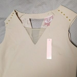 NWT sleeveless nude mini dress