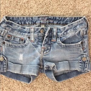 Bebe denim shorts size 25