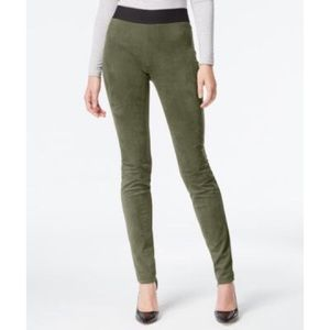 Olive Drab Faux Suede Pants NWT Size 6