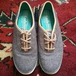 Grey Felted Keds