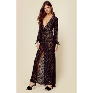 NWT For Love and Lemons J'adore Maxi Dress