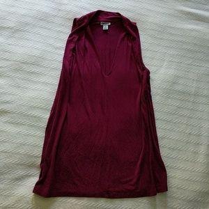 DKNY Cranberry Sleeveless Top