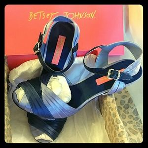 Betsey Johnson Blue Keira Heels with box Size 8M