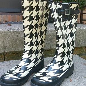 Sperry Topsider Houndstooth Rain Boots