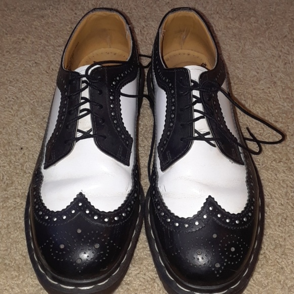 ed37c01479d1 Dr. Martens Shoes - Dr Martens black and white saddle shoes