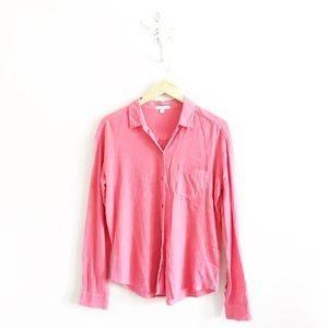 James Peter Coral Gauze Button Down Shirt