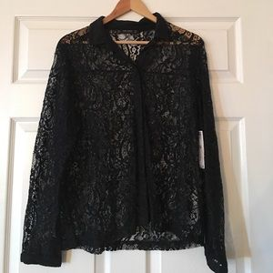 Zara lace detail shirt