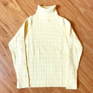 Eddie Bauer Yellow Cable Sweater