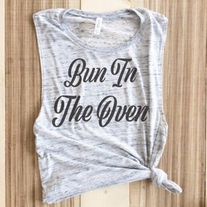 Bun In The Oven Pregnancy Announcement Muscle Tank Boutique