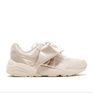 fenty x puma bow trinomic satin sneakers