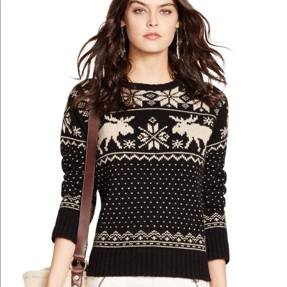 b0d3ec214 Polo Ralph Lauren Reindeer Holiday Sweater. M 59c806d0522b454c5e03063d